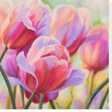 Tulips in Wonderland I Stretched Canvas Print by Cynthia Ann