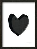 Black Heart Prints by Seventy Tree