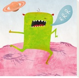 Alien Friend Number 1 Stretched Canvas Print by Skip Teller