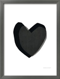 Black Heart Posters by Seventy Tree