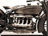 Detail of 4 cylinder Indian Ace, 1929 Stretched Canvas Print by Markus Cuff