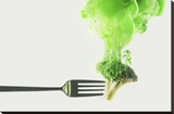 Disintegrated Broccoli Stretched Canvas Print by Dina Belenko