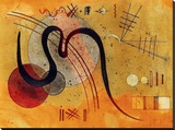 Launelinie Stretched Canvas Print by Wassily Kandinsky