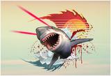 Vicious Laser Shark Kunstdrucke