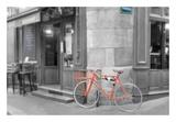 Orange Bicyclette Prints by Alan Blaustein