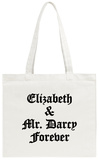 Elizabeth and Mr. Darcy Tote Bag Tote Bag