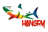 Hangry Shark Posters