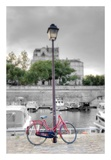 Bicycle St Martin Canal 1 Prints by Alan Blaustein