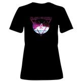 Womens: Alien Shark 80's Rock T-Shirt (Black) T-shirts