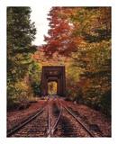 New England Train Trestle Bridge Print by Bruce Getty