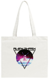 Alien Shark 80's Rock Tote Bag Tote Bag