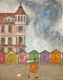 I Can Sing a Beach Hut Prints by Sam Toft