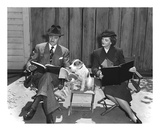 'The Thin Man' William Powell, Myrna Loy & Asta Poster by  Hollywood Historic Photos