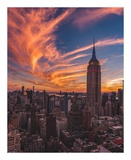 9-11 New York Sunset Prints by Bruce Getty