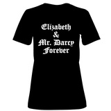 Womens: Elizabeth and Mr. Darcy T-Shirt (Black) Shirts