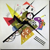 On White II Stretched Canvas Print by Wassily Kandinsky