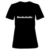 Womens: Bookaholic T-Shirt (Black) T-shirts