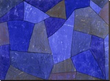 Rocks at Night Stretched Canvas Print by Paul Klee