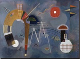 Round and Pointed Stretched Canvas Print by Wassily Kandinsky