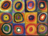 Squares with Concentric Circles Stretched Canvas Print by Wassily Kandinsky