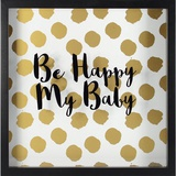 Happy Baby -Gold Wall Sign