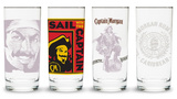 Captain Morgan - Hi Ball Glasses - Set of 4 Novelty