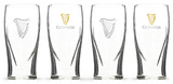 Guinness - Gravity Glass with Real Gold Harp - Set of 4 Novelty