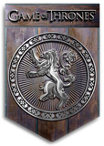 Game of Thrones - Lannister Crest Wood Sign