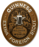 Guinness - Oval Extra Stout Wood Sign