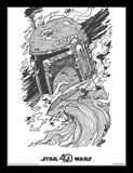 Star Wars - quarantesimo anniversario - Boba Fett Stampa del collezionista