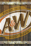 A&W Faux Fence Slats with 3-D Elements Wood Sign