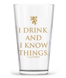 Game of Thrones - I Drink & I Know Things Glass Novelty