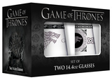 Game of Thrones - Stark Stemless Wine Glass with Platinum Rim - Set of 2 Novelty