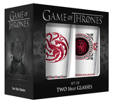 Game of Thrones - Targaryen Pub Glass with Gold Rim - Set of 2 Novelty