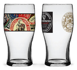 Guinness - Boxed Tulip Glasses Collage and World - Set of 2 Novelty
