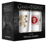 Game of Thrones - Lannister Pub Glass with Gold Rim - Set of 2 Novelty