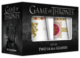 Game of Thrones - Lannister Stemless Wine Glass with Gold Rim - Set of 2 Novelty