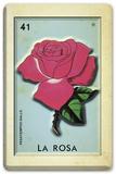 Loteria - La Rosa with 3-D Elements Tin Sign