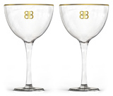 Bailey's - Stemware with Gold Rims - Set of 2 Novelty