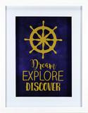 Dream Explore Discover Wall Sign