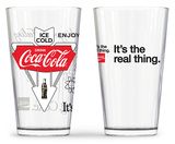 Coca Cola - Classic Logos Pub Glasses - Set of 2 Novelty