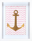 Gold Anchor Wall Sign