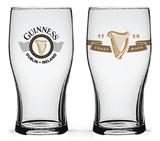 Guinness - Boxed Tulip Glasses Harp Logos - Set of 2 Novelty