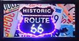 HISTORIC ROUTE 66 Light Up Sign