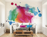 Ink Splattered Bricks Wall Mural Wall Mural