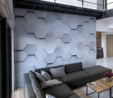 Metal Hexagons Wall Mural Wall Mural