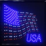 USA with FLAG Light Up Sign