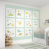 Animal Alphabet Wall Mural Wall Mural