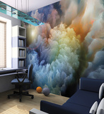 Moody Clouds Wall Mural Wall Mural