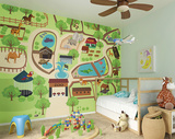 Zoo Time Wall Mural Wall Mural